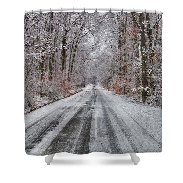 Frozen Road Shower Curtain