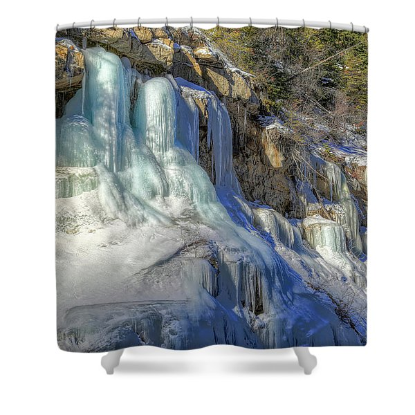 Frozen Snowmelt Shower Curtain