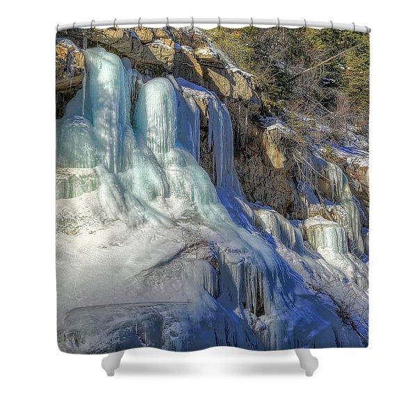 Frozen Snowmelt Shower Curtain
