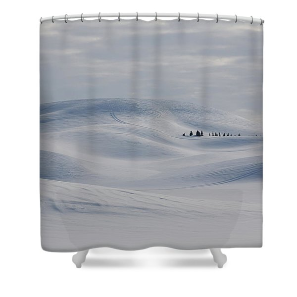 Frozen Winter Hills Shower Curtain