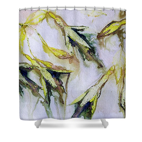 Fuchsia Eco Printed Magic Shower Curtain