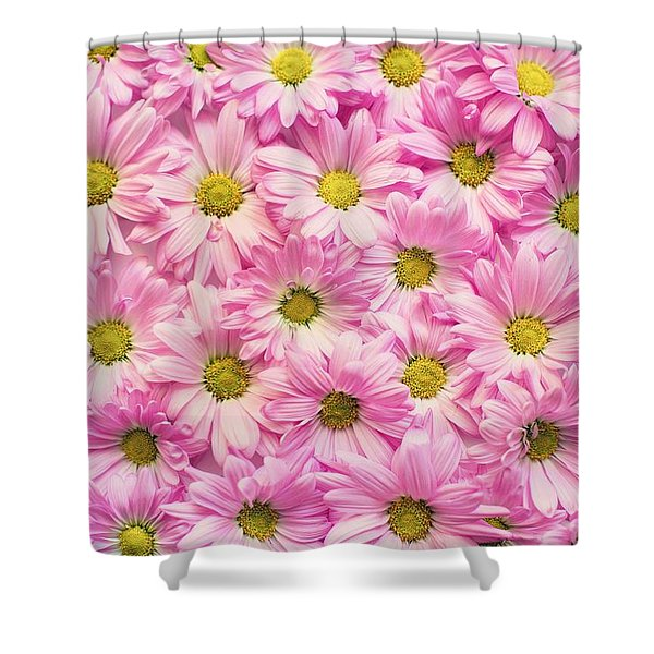 Full Of Pink Flowers Shower Curtain