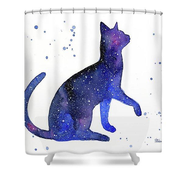 Galaxy Cat Shower Curtain
