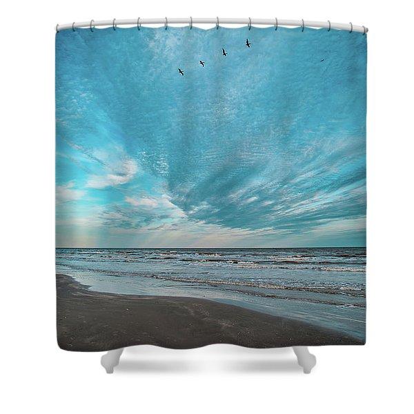 Galveston Island First Light Shower Curtain