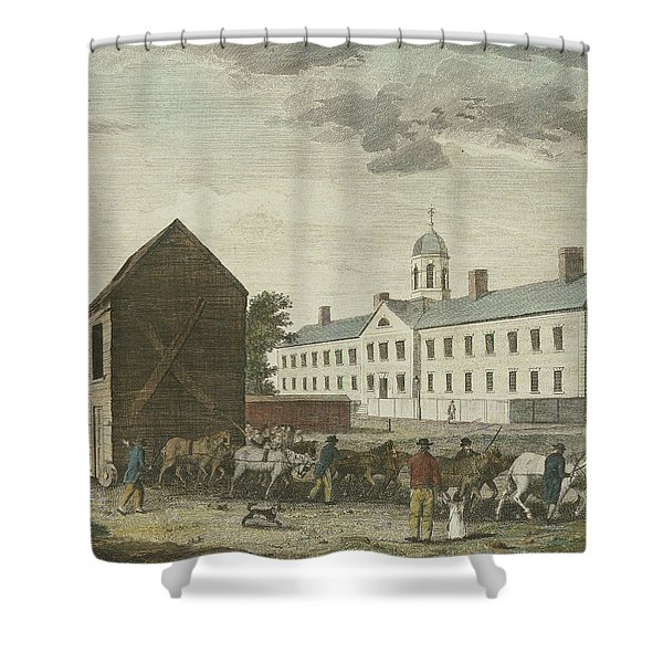 Gaol In Walnut Street Shower Curtain