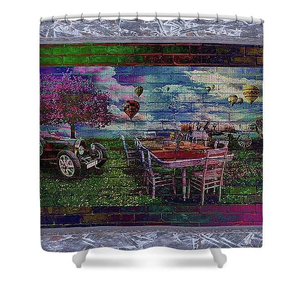 Garden Party You're Invited Shower Curtain