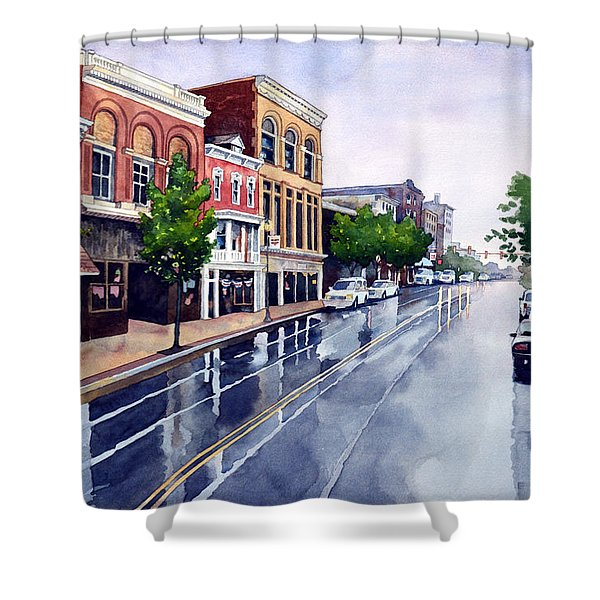 Gaslights And Afternoon Rain Shower Curtain