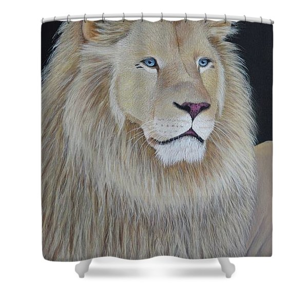 Shower Curtain featuring the painting Gentle Paws by Tracey Goodwin