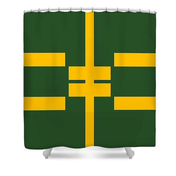 Geometric Field Shower Curtain