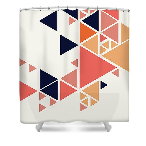 Geometric Painting 1 Shower Curtain