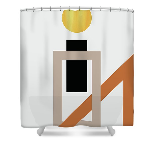 Geometric Painting 10 Shower Curtain