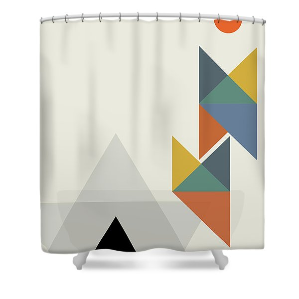Geometric Painting 14 Shower Curtain
