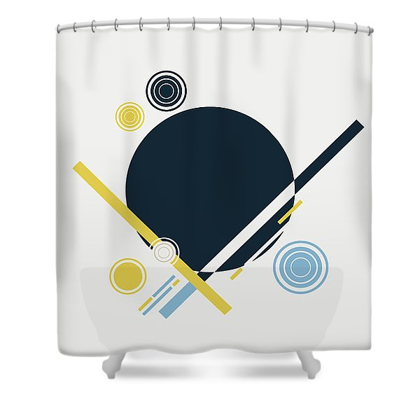 Geometric Painting 3 Shower Curtain