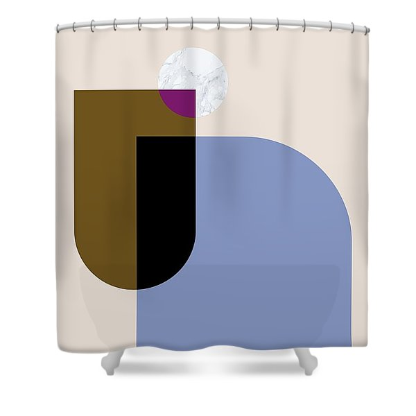 Geometric Painting 4 Shower Curtain