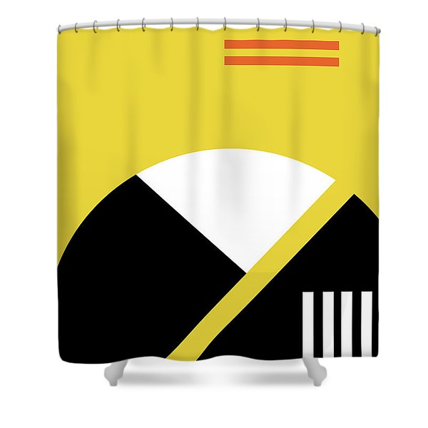 Geometric Painting 5 Shower Curtain
