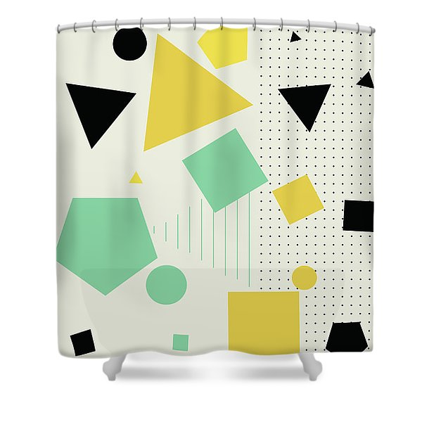 Geometric Painting 7  Shower Curtain