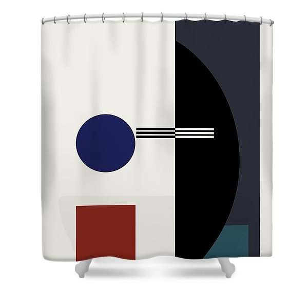 Geometric Painting 9  Shower Curtain