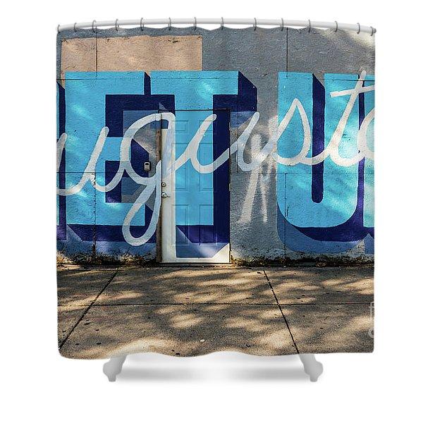 Get Up Augusta Ga Mural  Shower Curtain