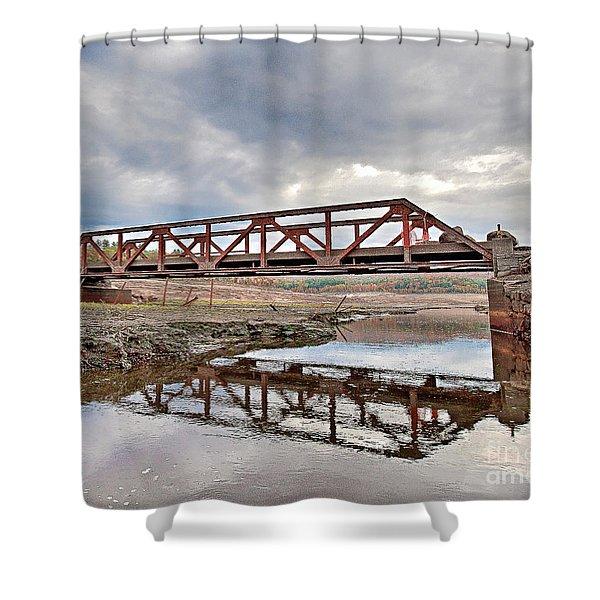 Ghost Bridge - Colebrook Reservoir Shower Curtain