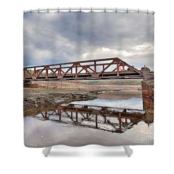Ghost Bridge - Colebrook Reservoir Shower Curtain