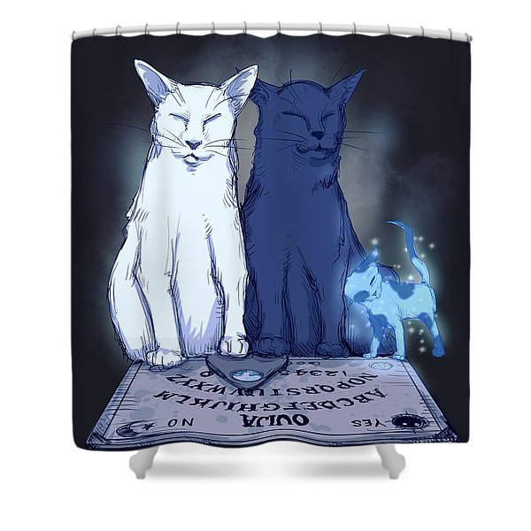 Ghost Kitten Shower Curtain