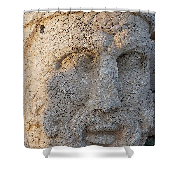 Giant Head Of Heracles,  Tumulus Shower Curtain