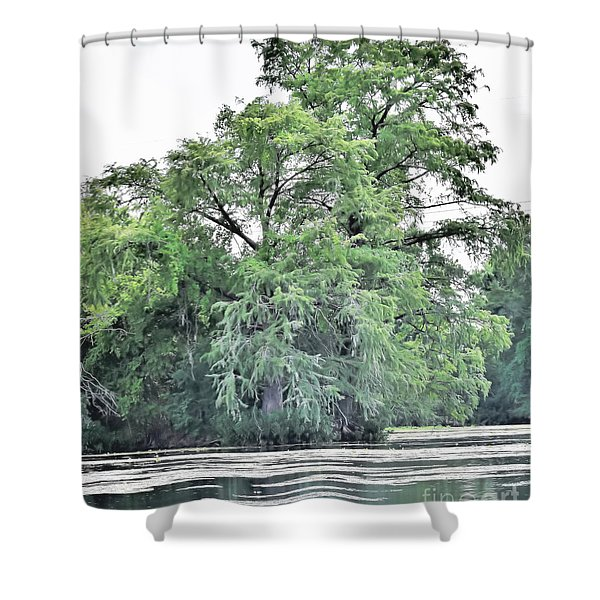 Giant River Tree Shower Curtain