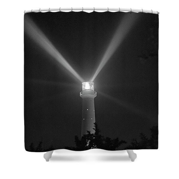 Gibbs Lighthouse Midnight Bermuda Shower Curtain