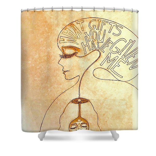 Gifts Of The Mind Shower Curtain