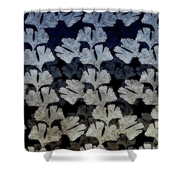 Ginko Leaf Pattern Shower Curtain