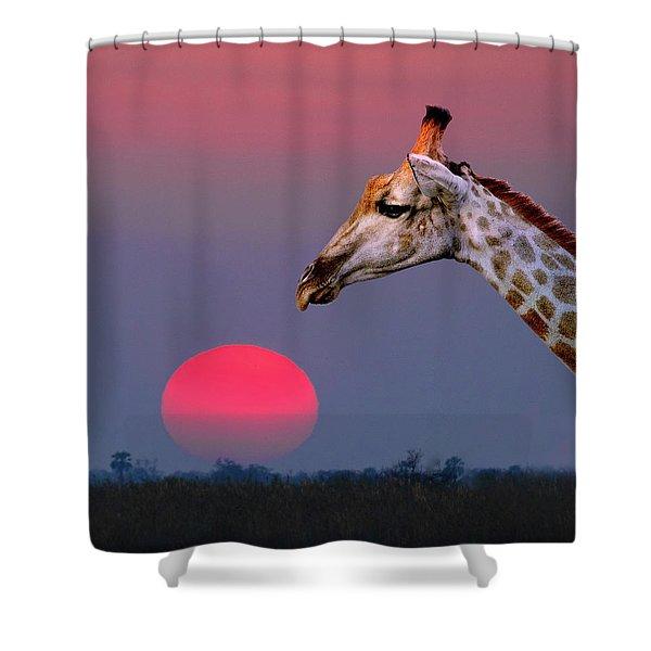 Giraffe Composite Shower Curtain