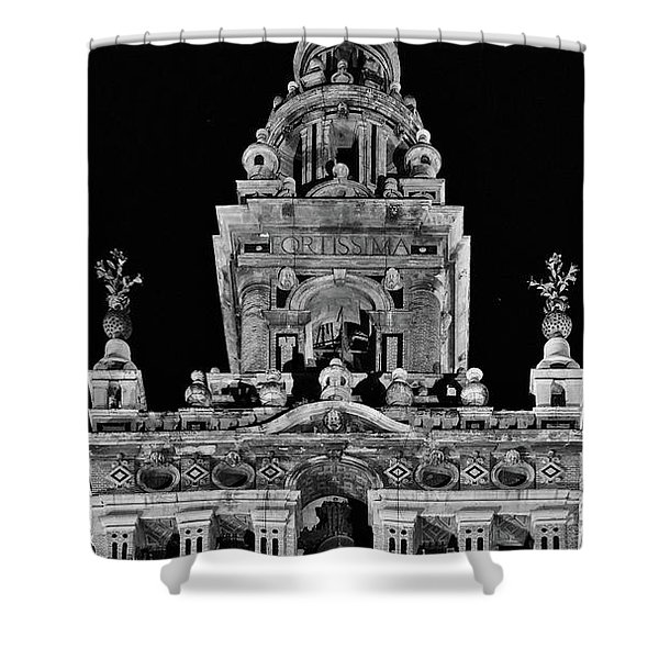 Giralda Tower In Monochrome. Seville Shower Curtain