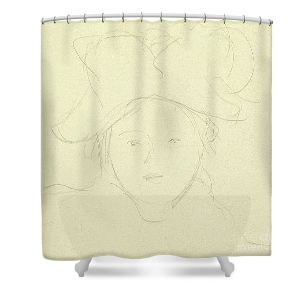 Girl With A Hat, 1889 Shower Curtain