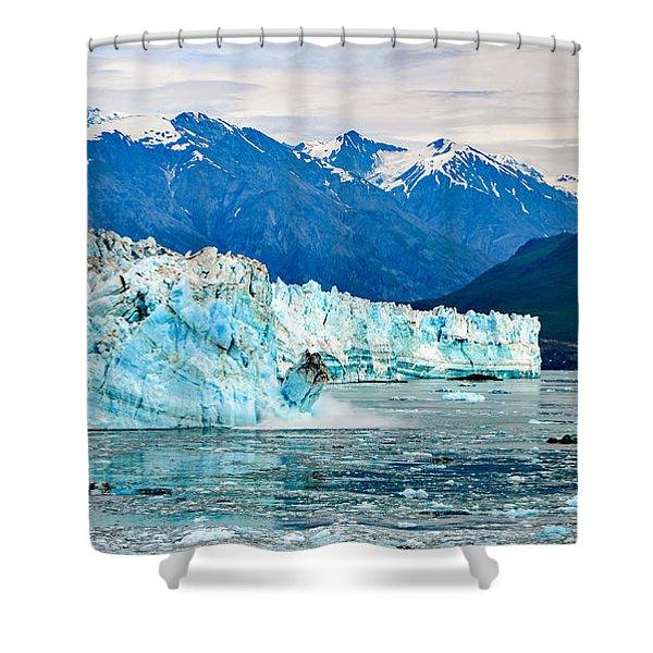 Glacier Calving Alaska  Shower Curtain
