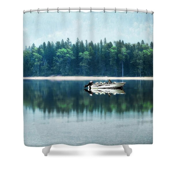 Glacier National Park Lake Reflections Shower Curtain