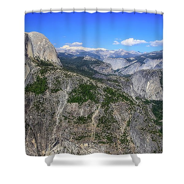 Shower Curtain featuring the photograph Glacier Point Overlook by Dawn Richards
