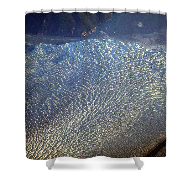 Glacier Texture Shower Curtain