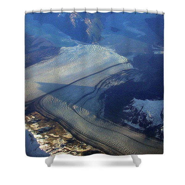 Glaciers Converge Shower Curtain
