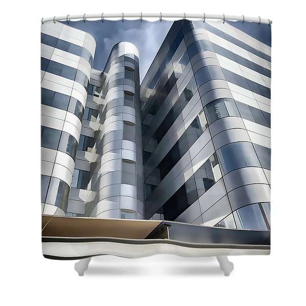 Glass And Steel II Shower Curtain