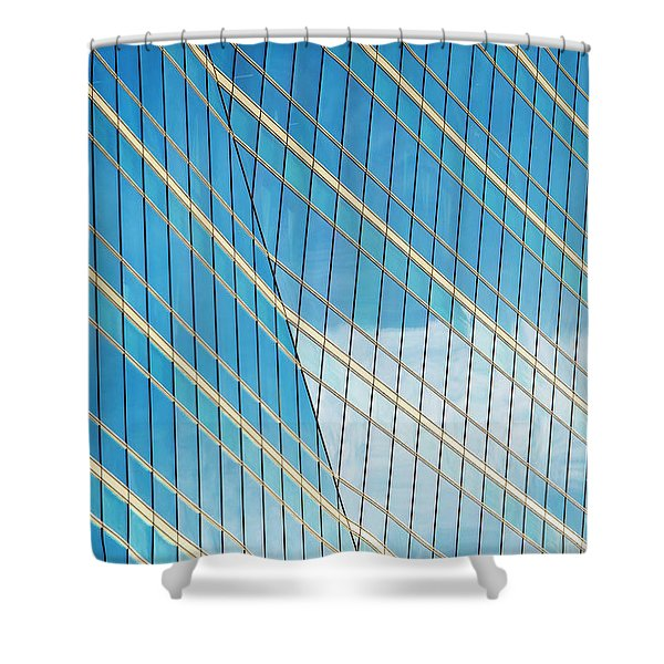 Glass Angles Shower Curtain