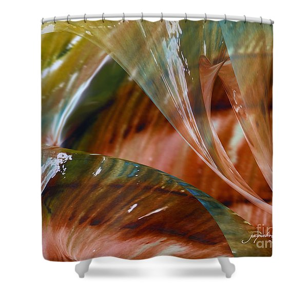 Glass Blowing Dance Shower Curtain