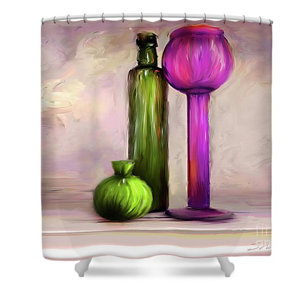 Glass On Glass Shower Curtain