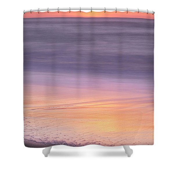 Shower Curtain featuring the photograph Gleneden Beach Sunset by Whitney Goodey