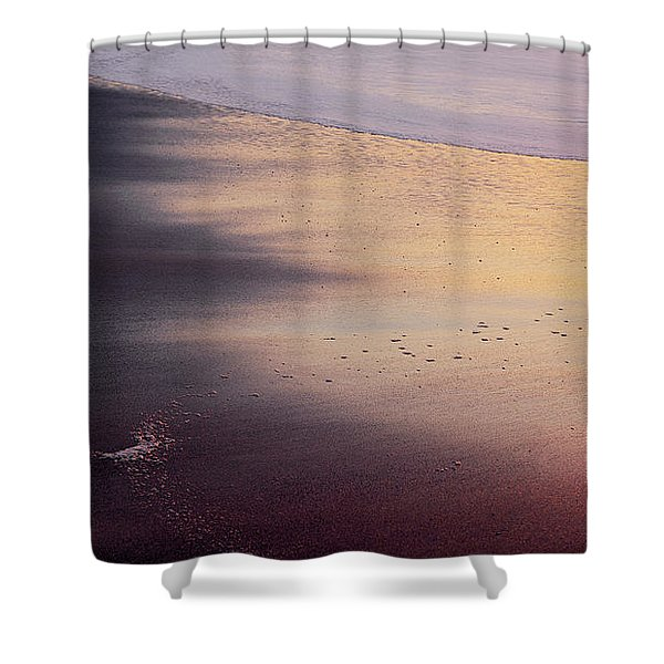 Shower Curtain featuring the photograph Gleneden Glow by Whitney Goodey