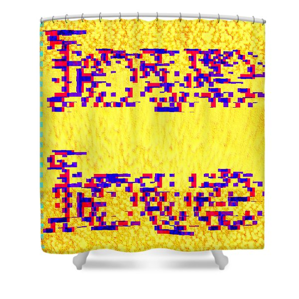 Glitched Love Shower Curtain