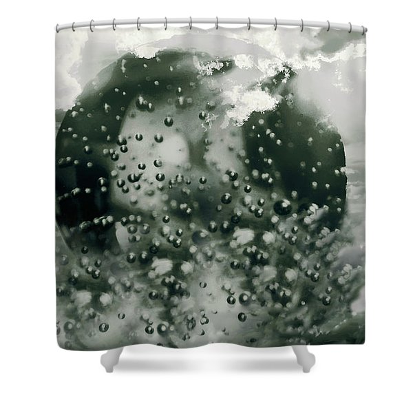 Shower Curtain featuring the mixed media Global Warming by Gerlinde Keating - Galleria GK Keating Associates Inc