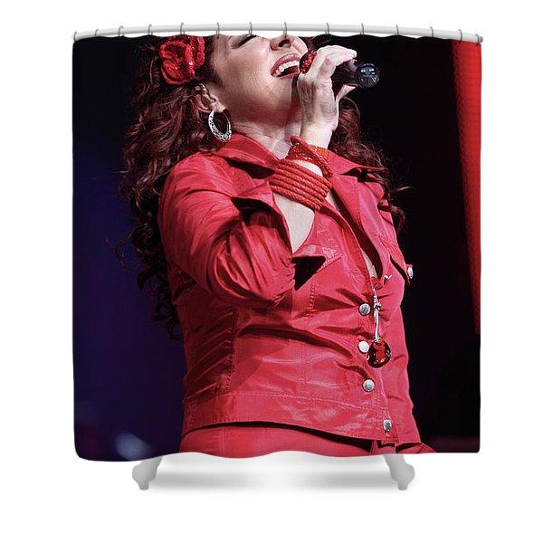 Gloria Estefan  Shower Curtain