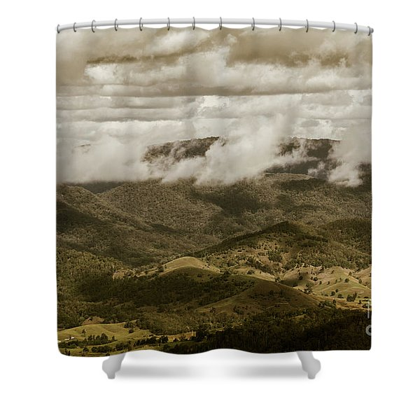 Glorious Cloud Cover Shower Curtain
