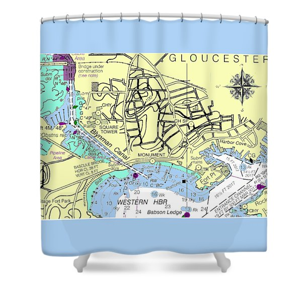 Gloucester, Ma Shower Curtain