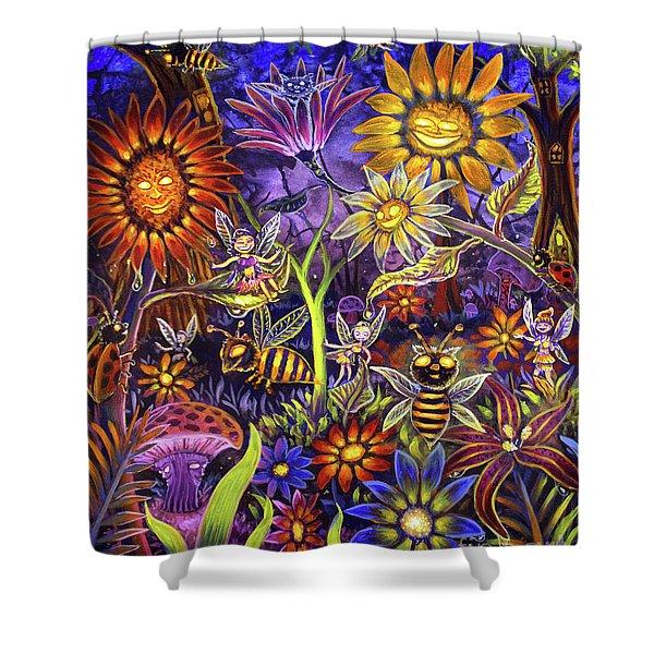 Glowing Fairy Forest Shower Curtain